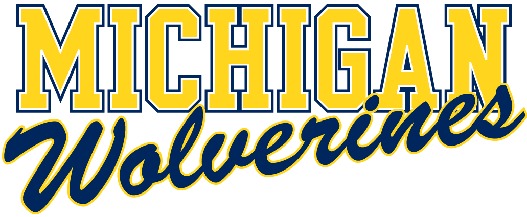 Images Of Michigan Wolverines Logo Michigan Wolverines Word Mark Logo Michigan Michigan Wolverines