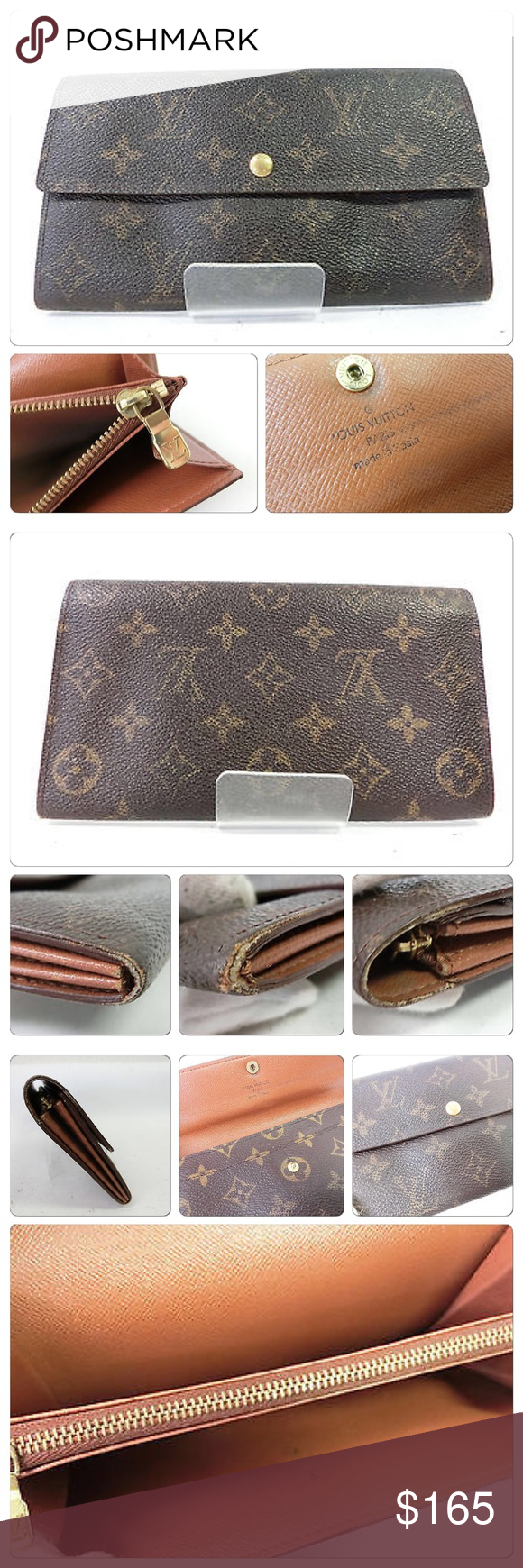 Louis Vuitton Portefeuille Sarah Wallet Authentic used wallet from Louis Vuitton. I don't trade so please don't ask. Closure snap is loose. Louis Vuitton Bags Wallets