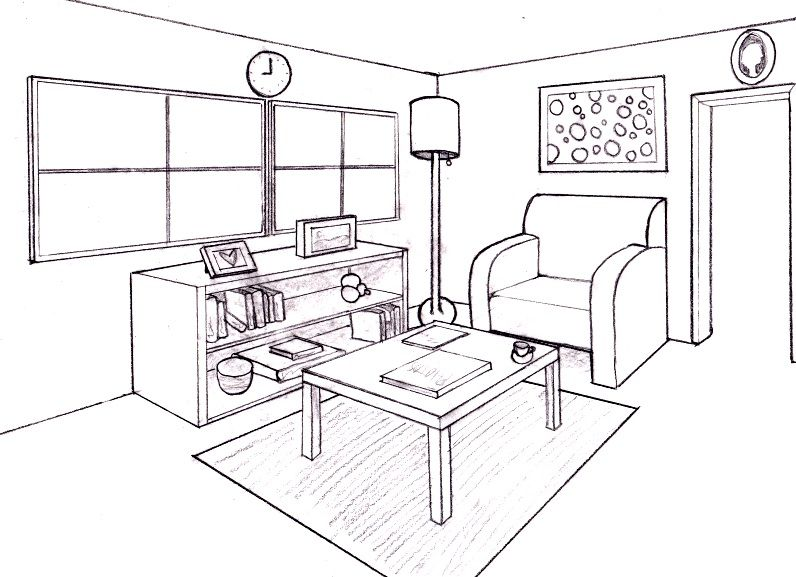 How to draw  room in perspective interior home designs also rh ar pinterest
