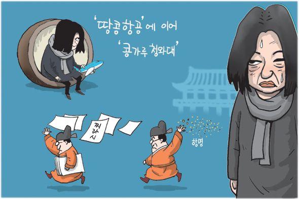'땅콩항공'에 이어 '콩가루 창와대' - 1월 12일 한겨레 그림판