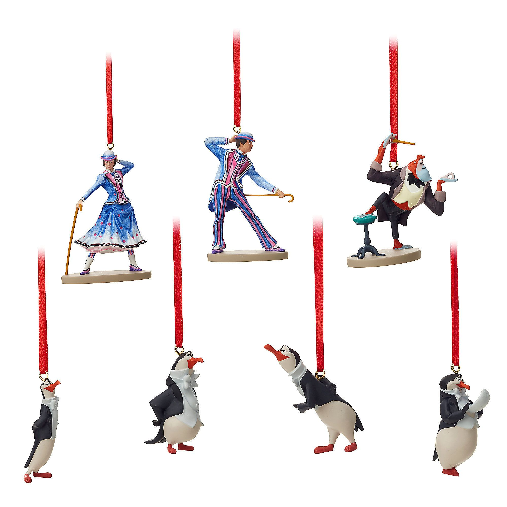 Disney 2018 Sketchbook Mary Poppins Jolly Holiday Penguins Ornament