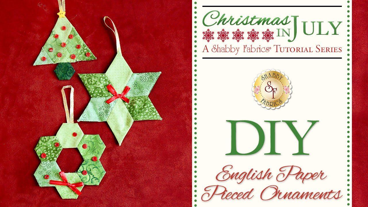 DIY English Paper Pieced Ornaments