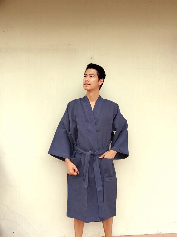 BATHROBE Natural Cotton Robe Kimono Bath Robe High Quality Kimono Cotton  Sauna be58d193f