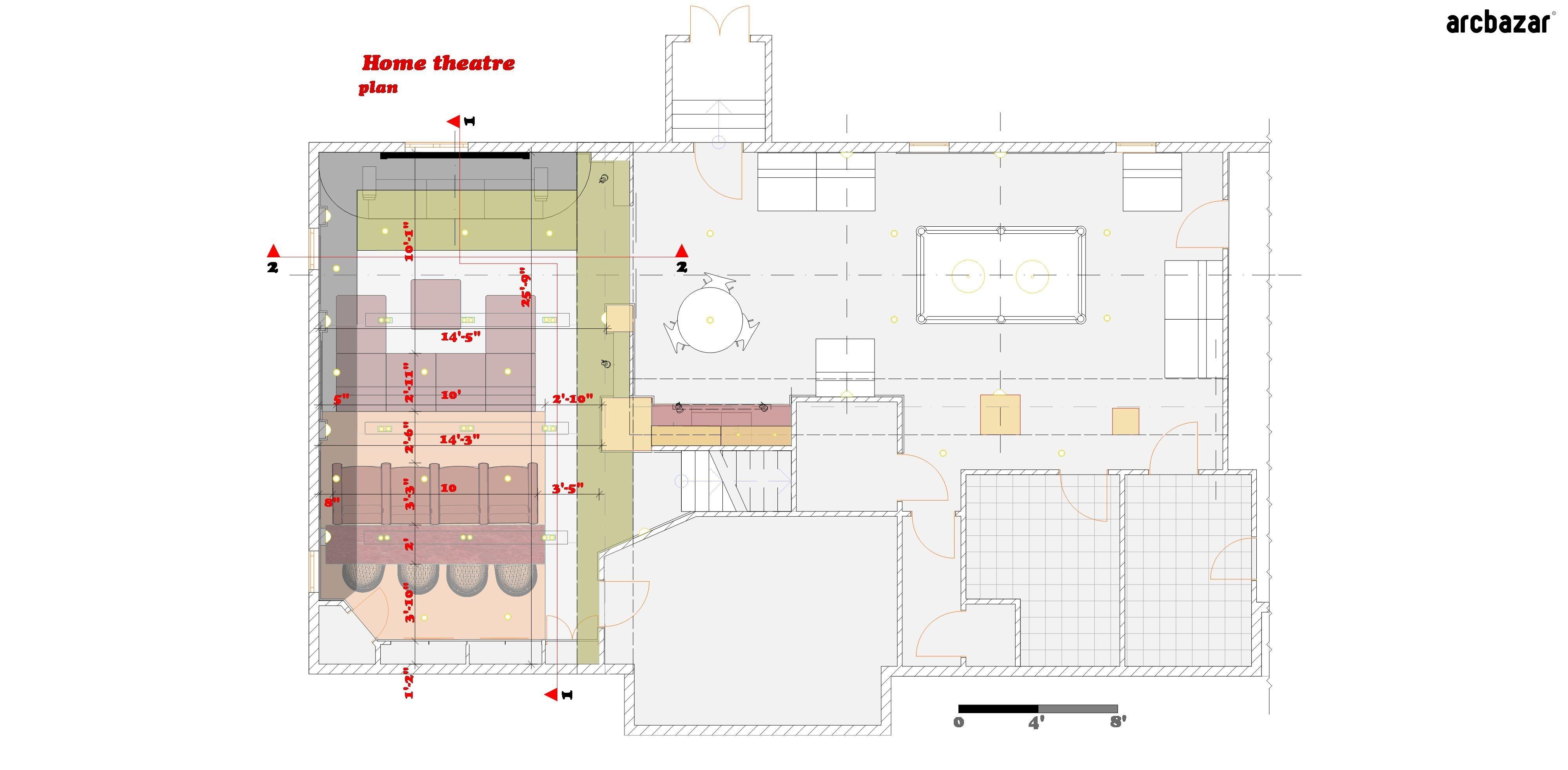 Home Theatre design submission by Marina Dil via http://arcbazar.com ...