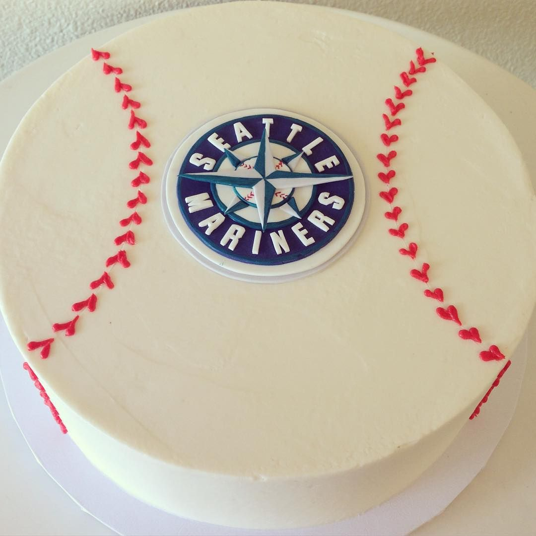 Seattle Mariners cake by Stuffed Cakes StuffedCakescom Custom Cakes