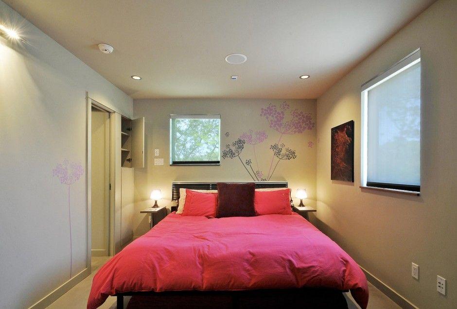 Decoracion dise o dormitorio peque o con cama grande for Cama grande