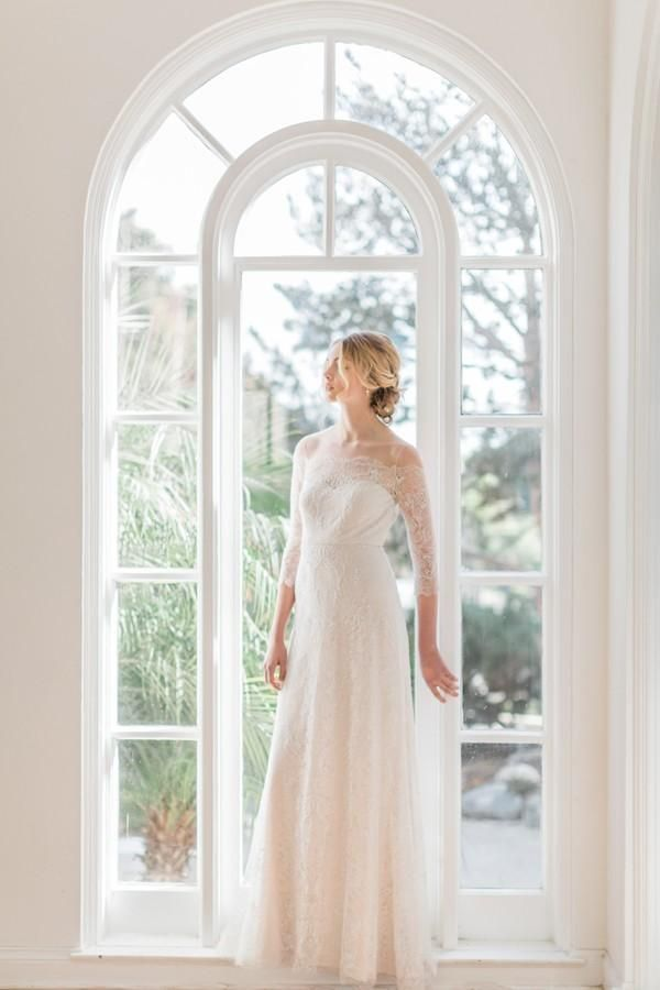 Cheap 2016 Jenny Yoo Full Lace Wedding Dresses Off Shoulder Long ...
