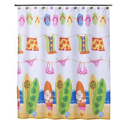Hanging Loose Shower Curtain Target With Images Kids Shower
