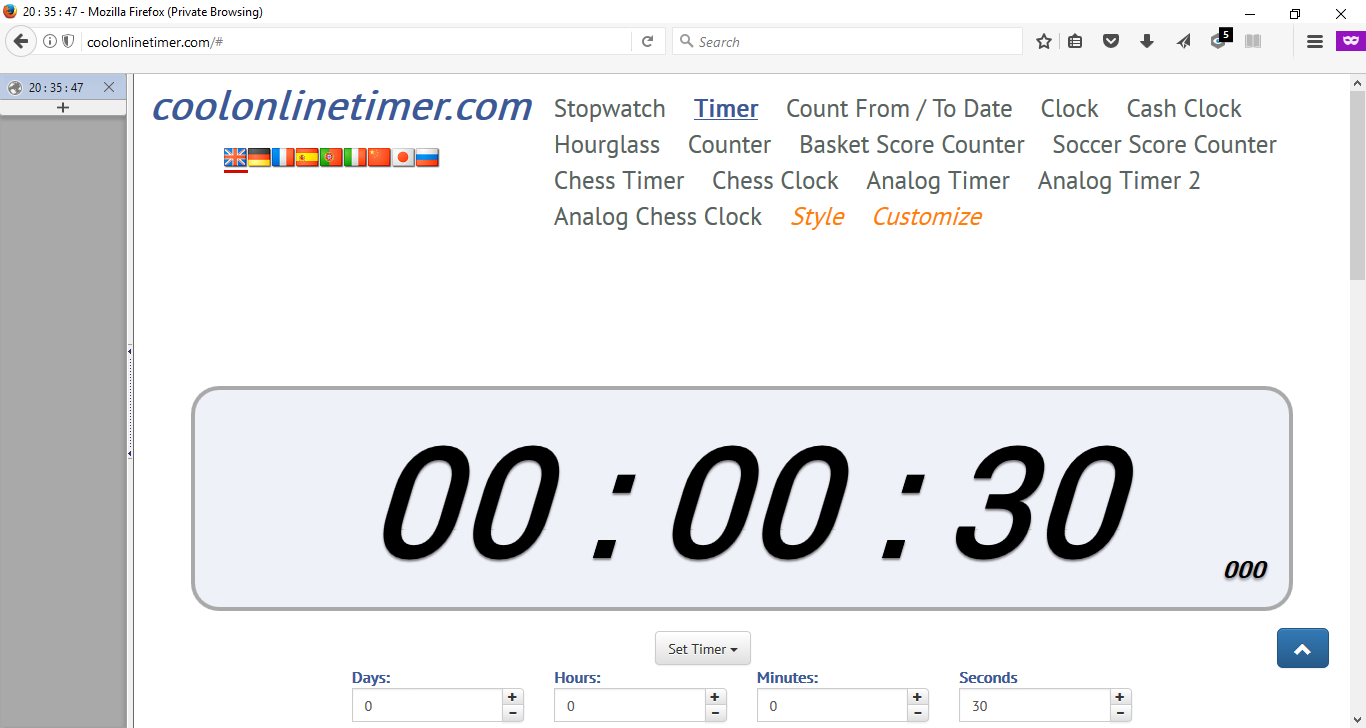 Free Online Timer Stopwatch