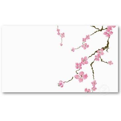 Cherry Blossom Business Card Zazzle Com Cherry Blossom Watercolor Cherry Blossom Tree Tattoo