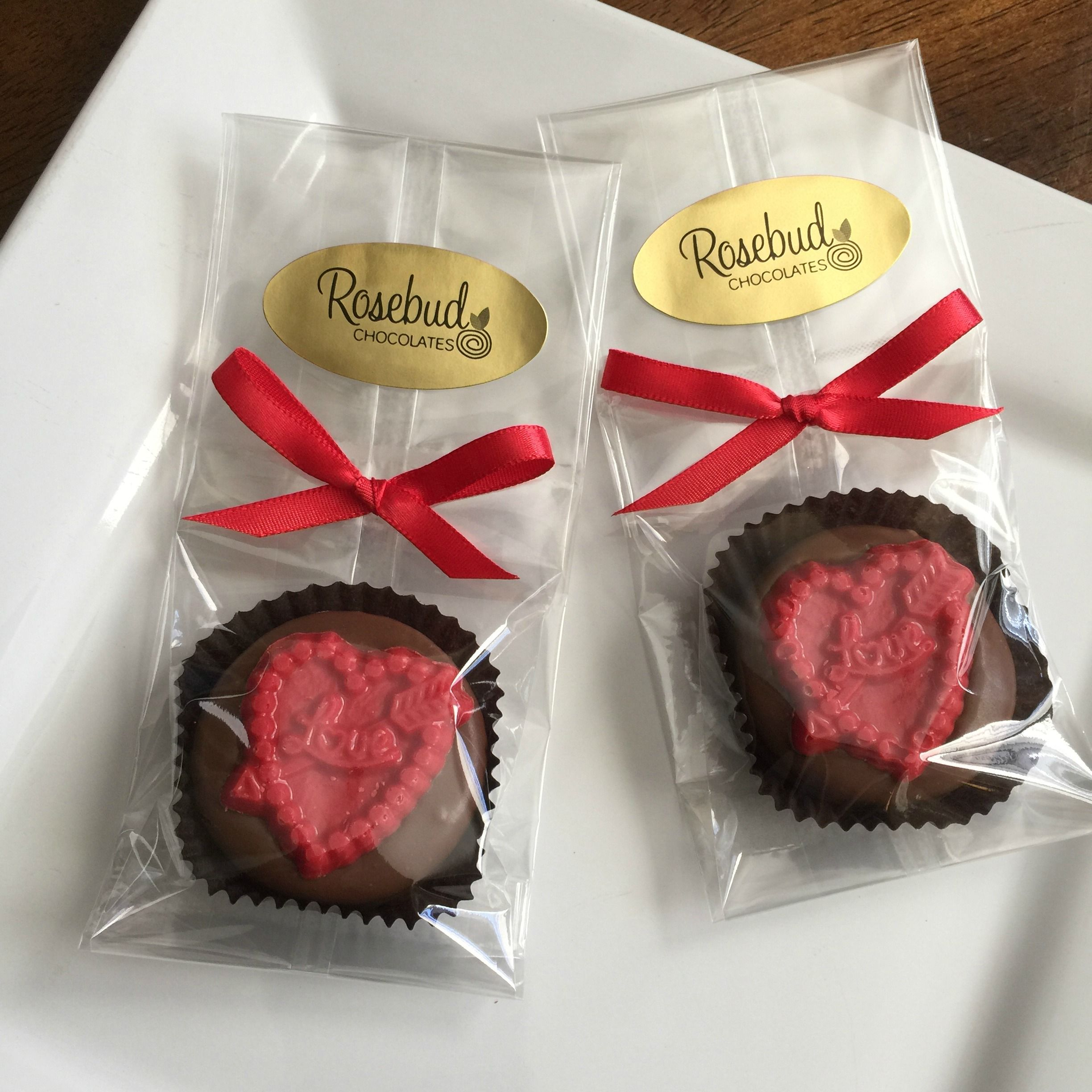 Wedding Bridal Shower FavorsMilk Chocolate Red Heart Shaped Love