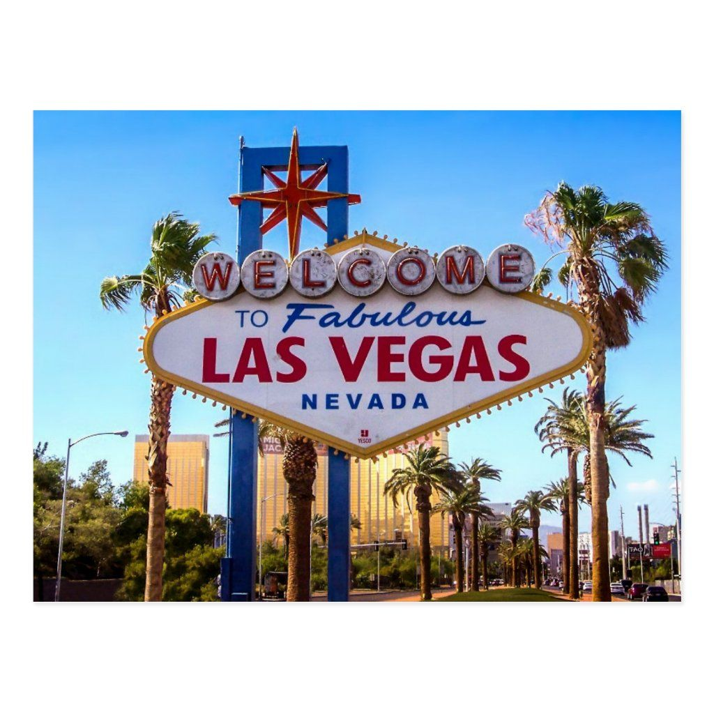 Greetings from Vegas Postcard in 2020 Las