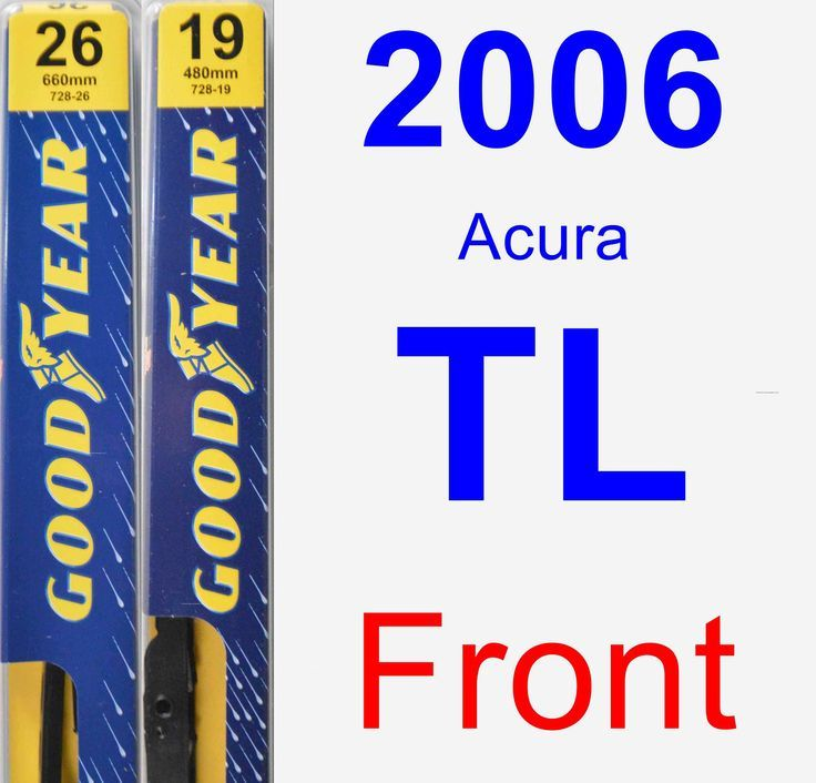 Nice Acura Front Wiper Blade Pack For Acura TL Premium - 2006 acura rl wiper blades