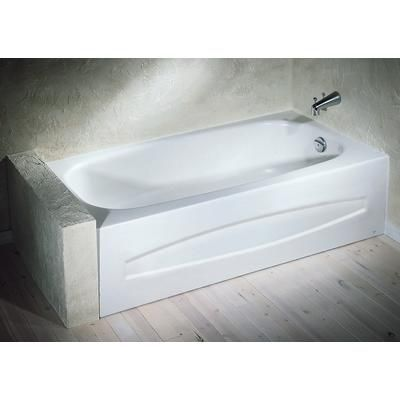 american standard - cadet enamel steel tub right hand outlet, white