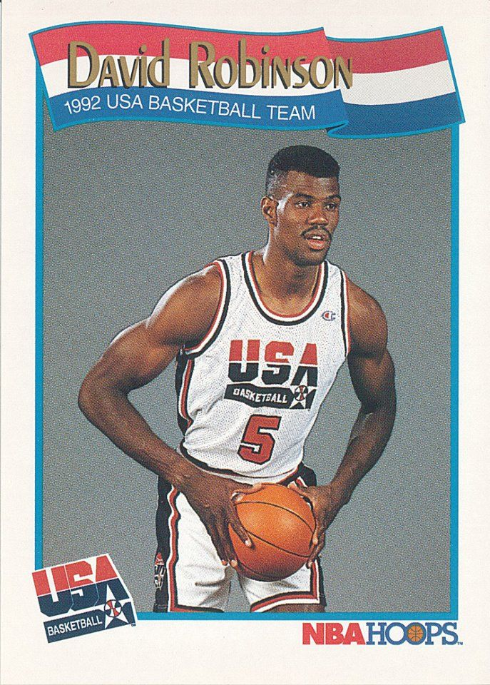 David Robinsons 1992 Olympic Dream Team Basketball Card Navy
