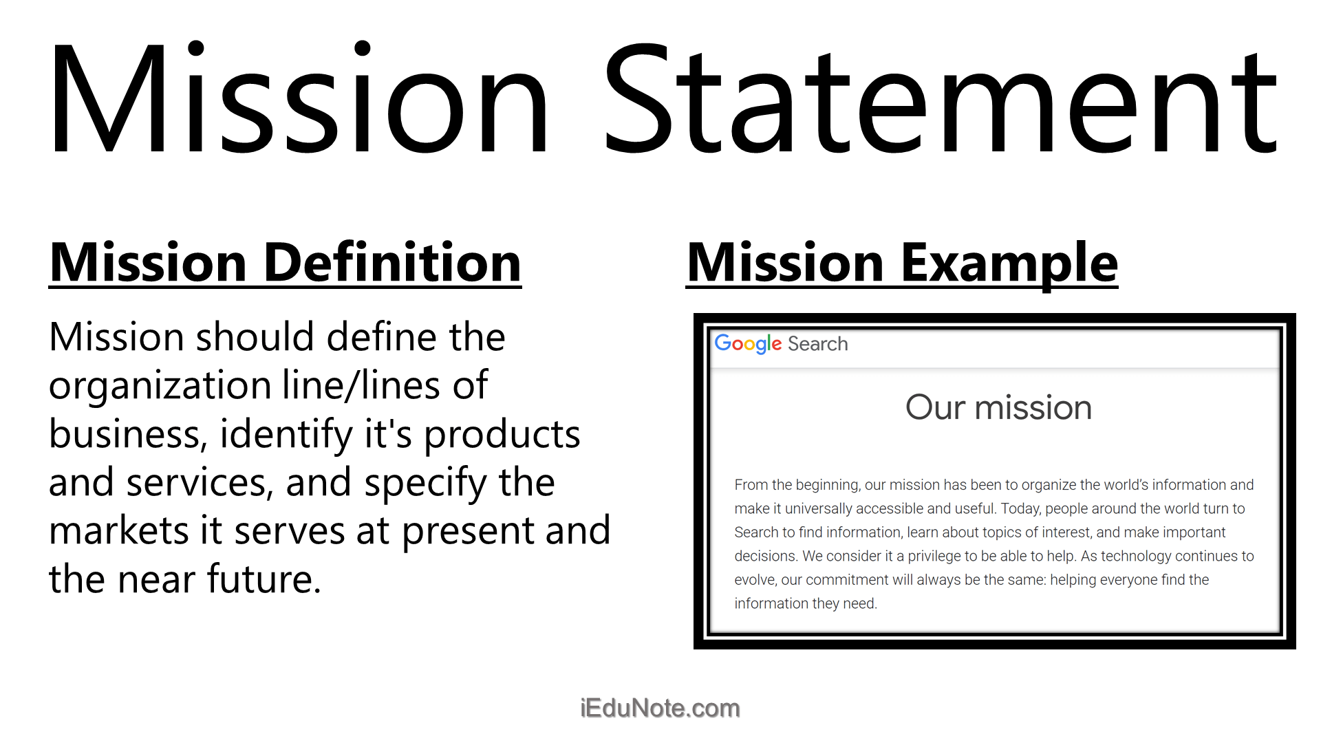Mission Meaning Ideal Contents Of A Mission Statement Mission Statement Examples Mission Statement Examples Business Mission Statement