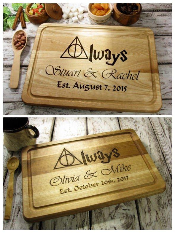 Personalized Cutting Board Always Harry Potter Cutting Board, Kitchen Decor Rustic Wedding Gift Custom Engraved Cutting Board