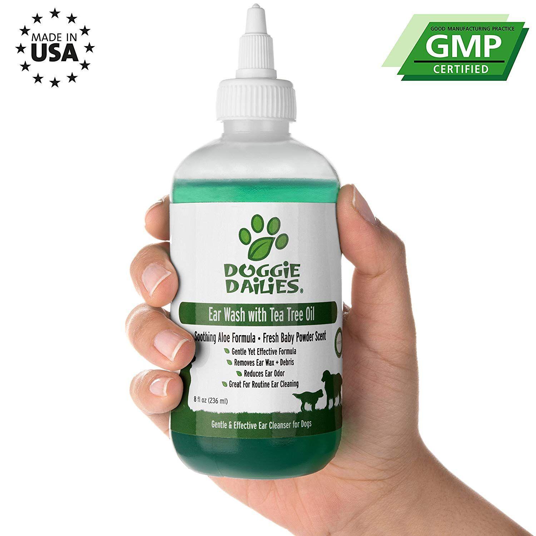 Doggie Dailies Pet Ear Cleaner Tea Tree Oil, Witch Hazel