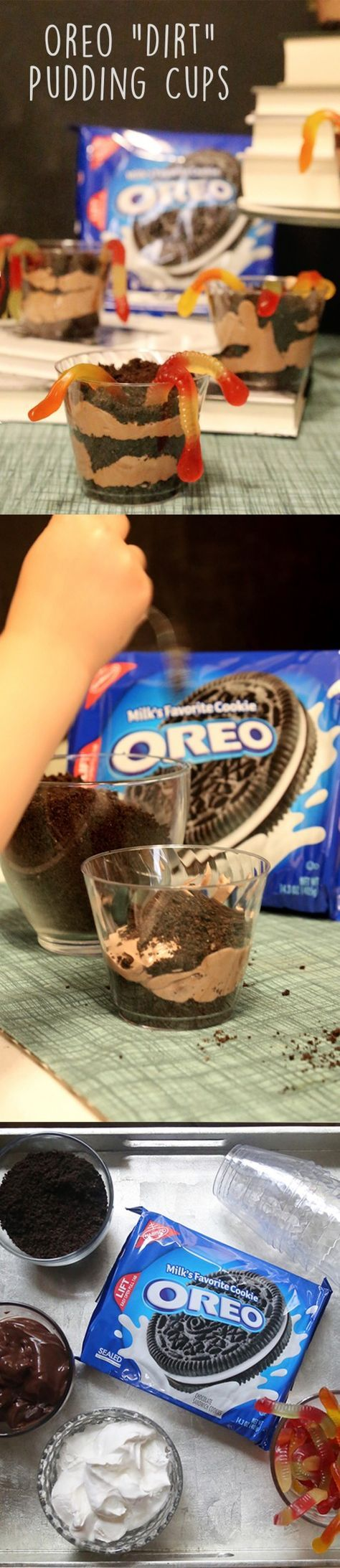 "Let your kids play in the ""dirt"" with these OREO cookie pudding cups! [Ad]"