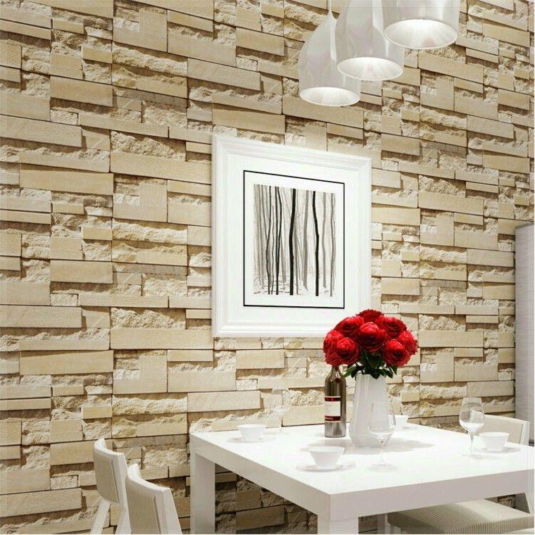 Pared dise o y texturas 50 ideas para ser diferentes for Patron de papel tapiz para sala comedor