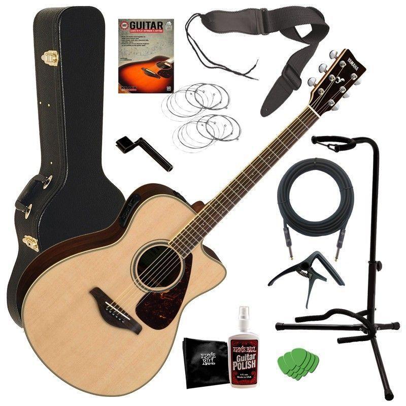 Yamaha Fsx830c Acoustic Electric Guitar Natural Complete Guitar Bundle Yamaha Guitar Acoustic Electric Guitar