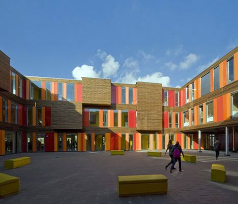 Architecture School Building amsterdam-temporary-school-gymnasium | modular school design and