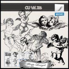 CU vol 216 Angel Brushes by Florju Designs #CUdigitals cudigitals.comcu commercialdigitalscrapscrapbookgraphics #digiscrap