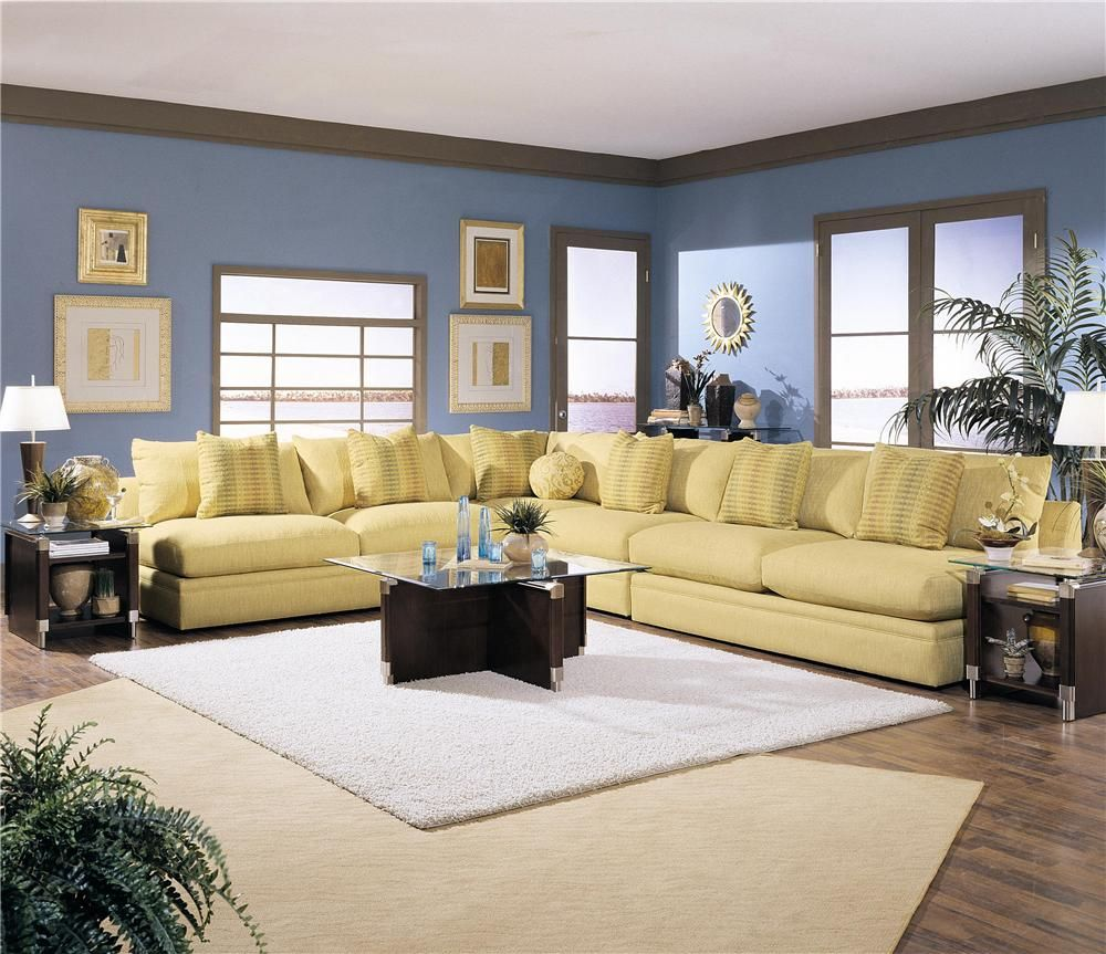 Melrose Furniture #40 - Melrose Place Four Piece Sectional Sofa By Klaussner At Olindeu0027s Furniture