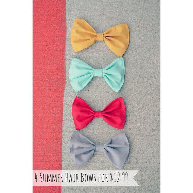 Set of 4 Summer Hair bows ($12.99)