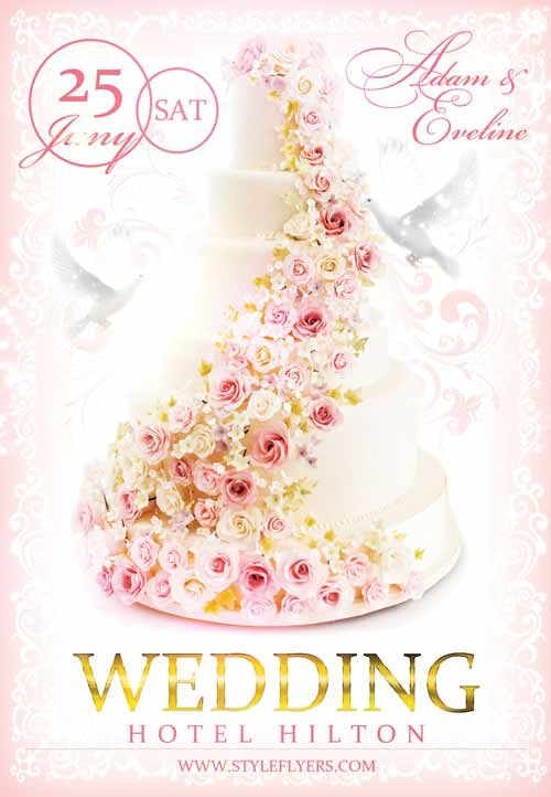 Wedding Free Flyer Template - http\/\/freepsdflyer\/wedding-free - wedding flyer