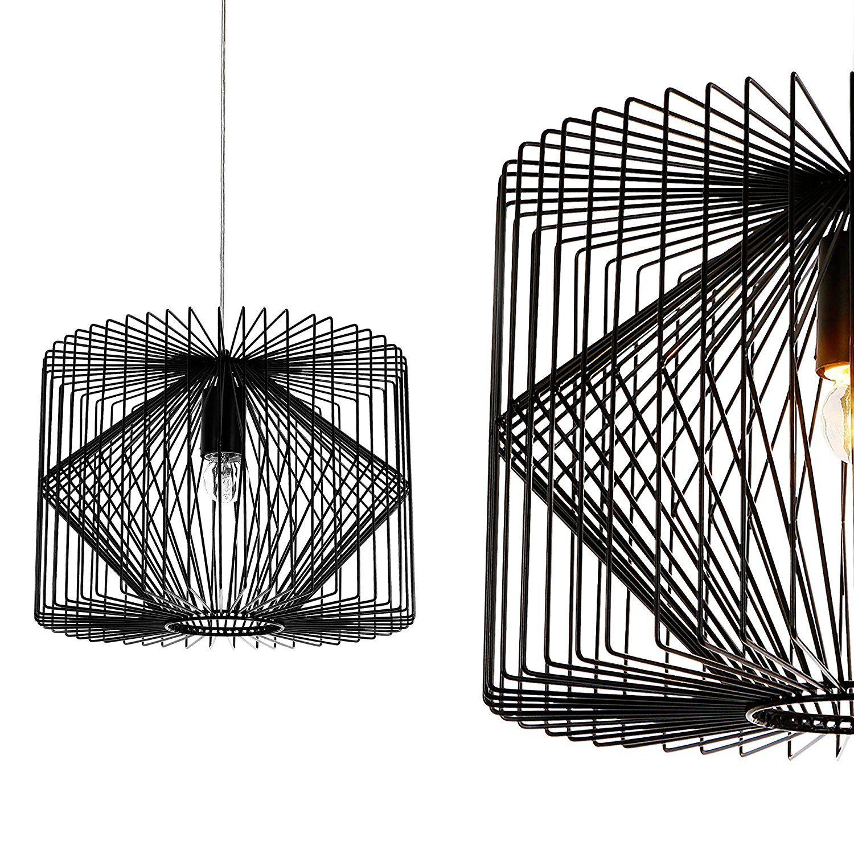 Luxpro Deckenleuchte Schwarz Metall Pendelleuchte Gitter Esszimmer Deckenlampe Vintage Retro Hngeleuchte Lampe