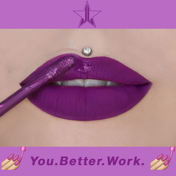 Jeffree Star Cosmetics You Better Work Liquid Lipstick from the new summer chrome collection
