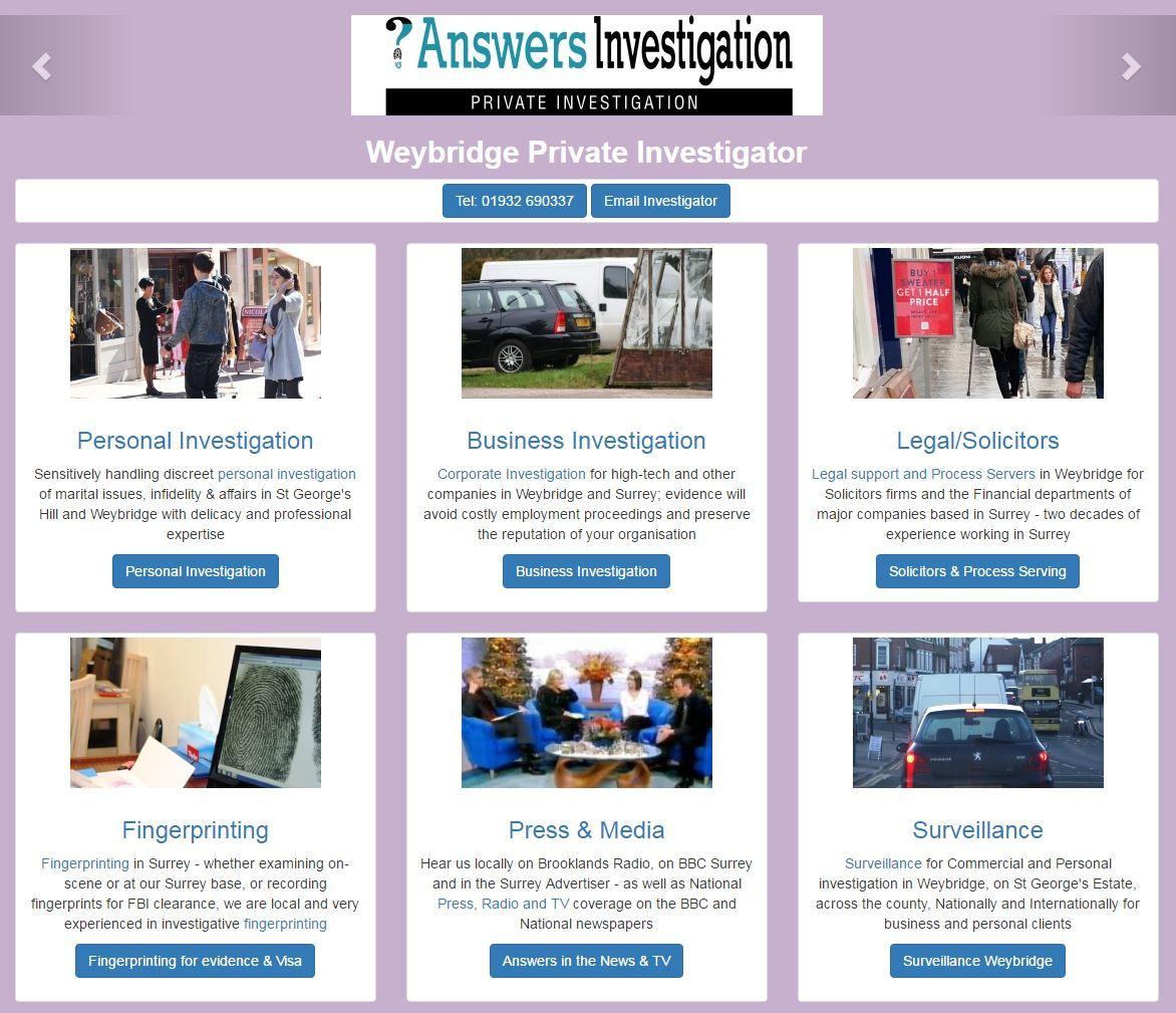 Weybridge Private Investigator Answers Investigation http