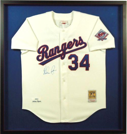 Custom framed Rangers baseball jersey @bradleyshouston | Sports ...