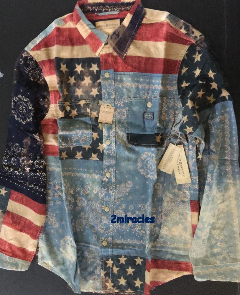 ralph lauren mens long sleeve shirts flag material