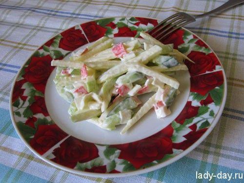 Салат с крабовыми палочками, самый вкусный | Простые ...