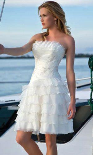 short beach wedding dress   hair ideas   Pinterest   Short beach ...