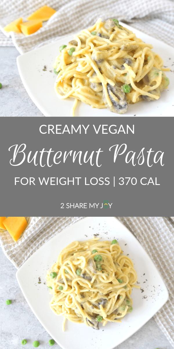 Creamy Butternut Squash Spaghetti Oil Free Vegan