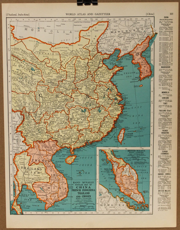 Map Thailand Vietnam Taiwan And Malaysia DIY Pinterest - China historical map 1890 1907