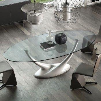 Coral Design Glastisch von Cattelan | Ausziehtisch