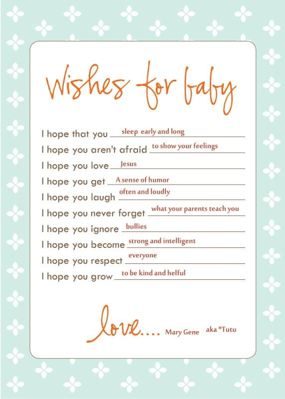 What Messages To Write In A Baby Shower Card Baby Shower Ideas