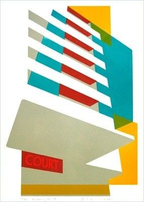 Embassy Court By Paul Catherall Www Castorandpollux Co Uk Architectural Prints Architecture Poster Cityscape Drawing