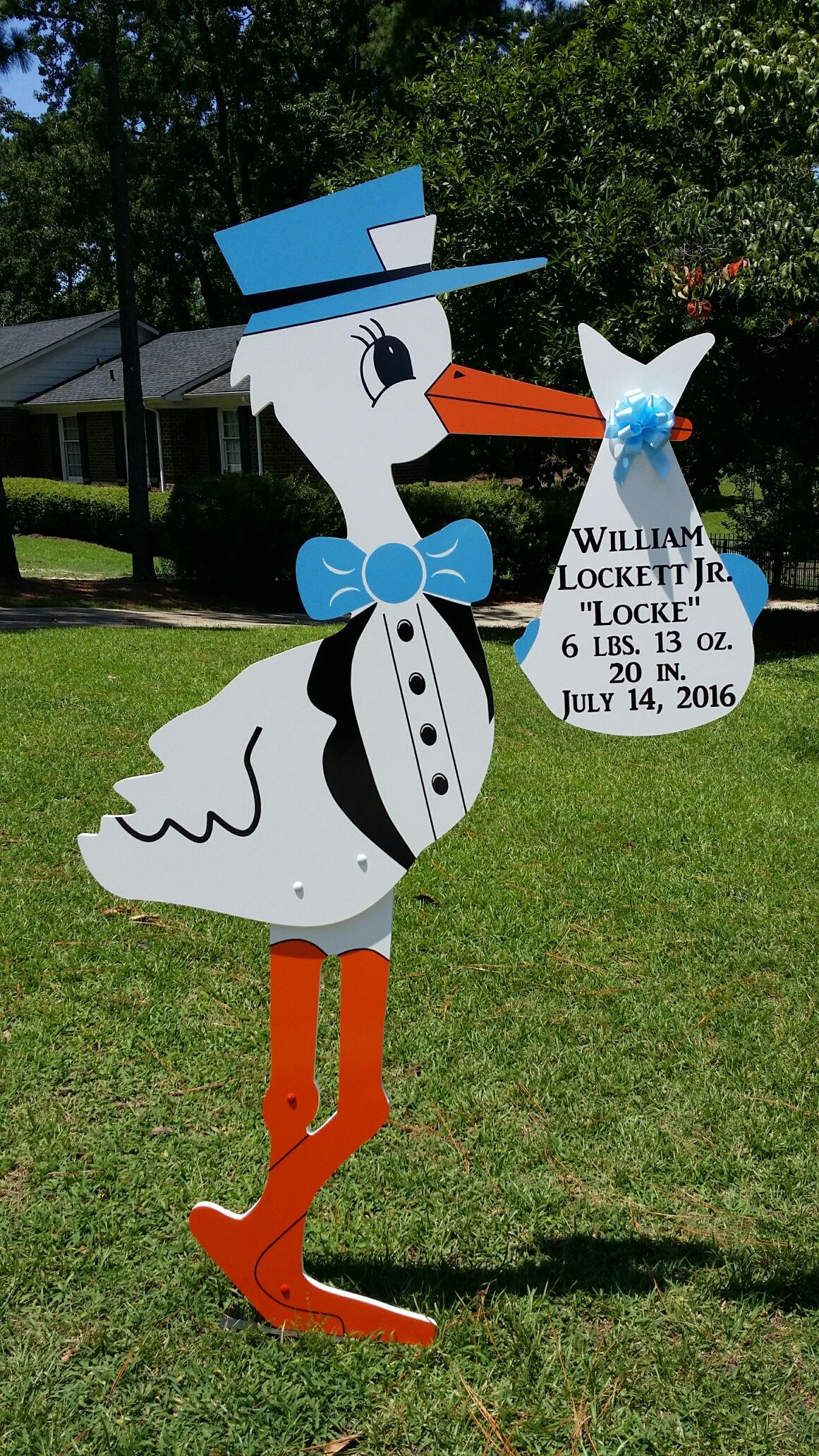 Fayetteville Nc New Baby Stork Lawn Sign Rental Call