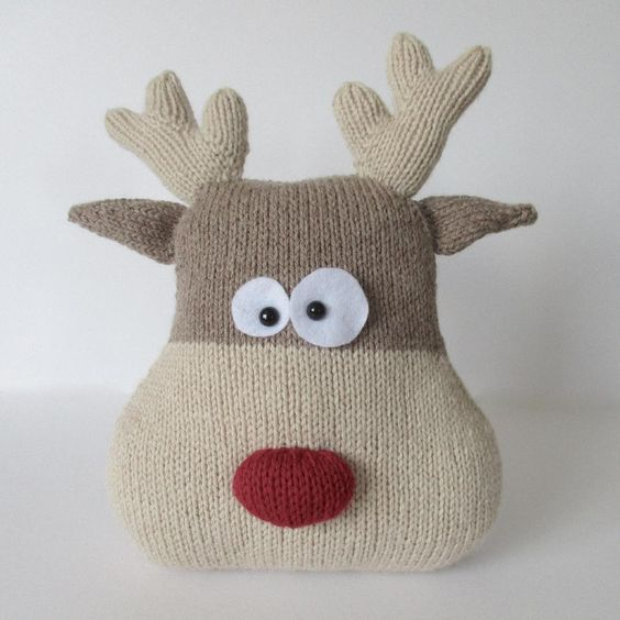 Reindeer Cushion Knitting Pattern By Amanda Berry Knitting