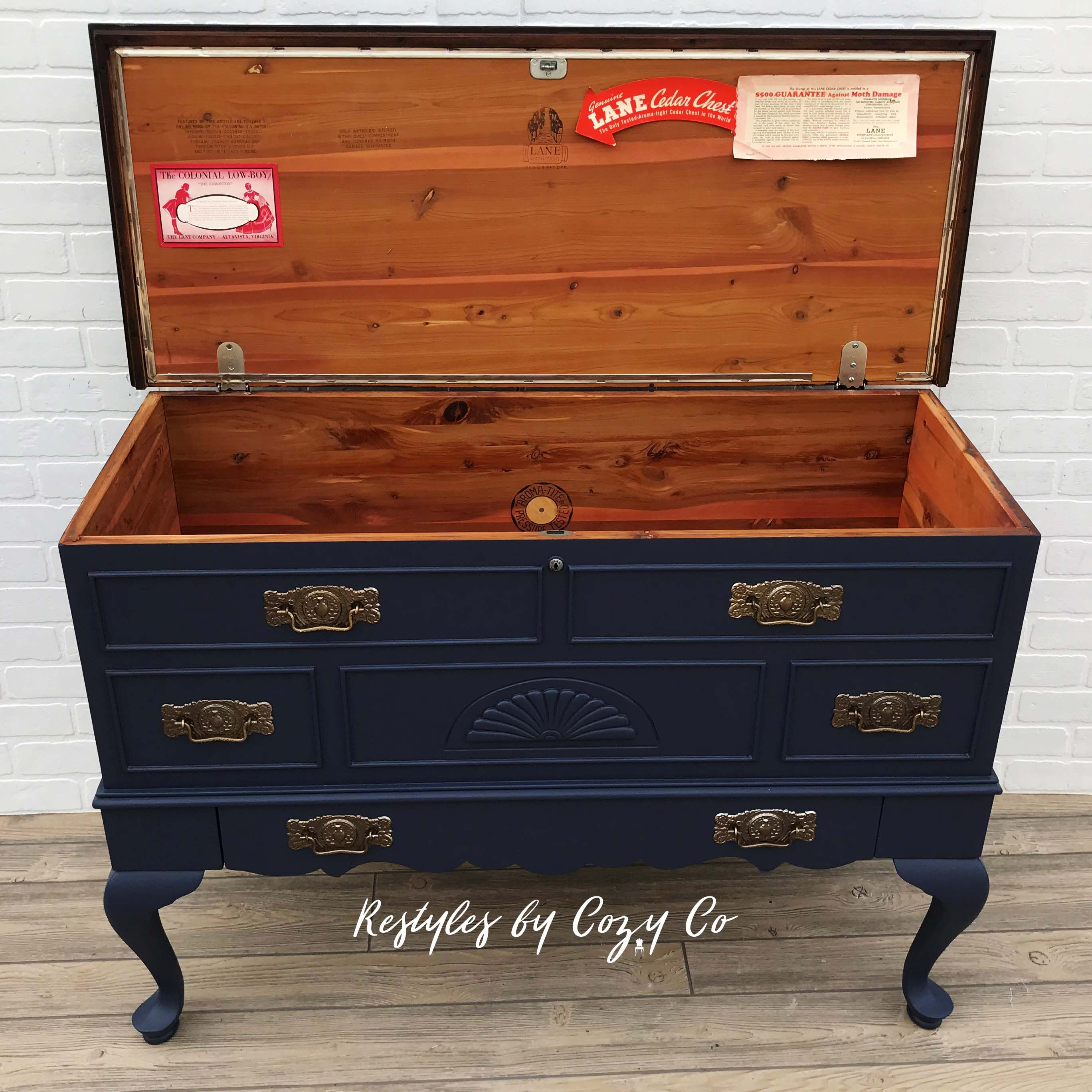 Vintage Lane Cedar Hope Chest 1940 S Chest Painted In The Perfect