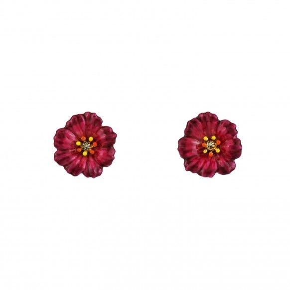 Boucles d'oreilles fleurs roses euro 45,00  Plus de découvertes sur Le Blog des Tendances.fr #tendance #mode #blogueur
