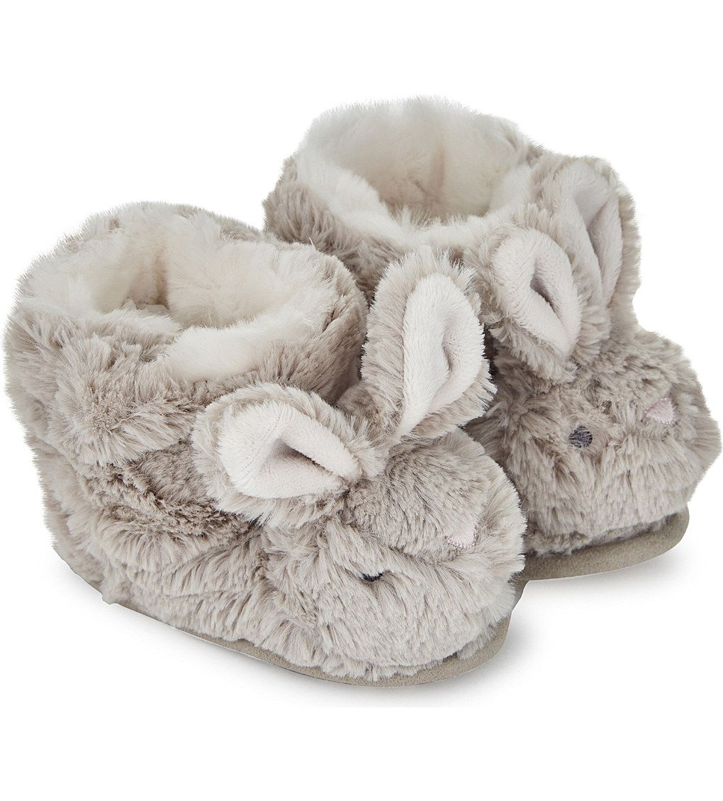 35126ddcf93f THE LITTLE WHITE COMPANY Fluffy bunny slipper boots 0-24 months in ...