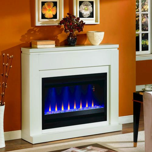 48 White Electric Fireplace At Menards White Electric Fireplace