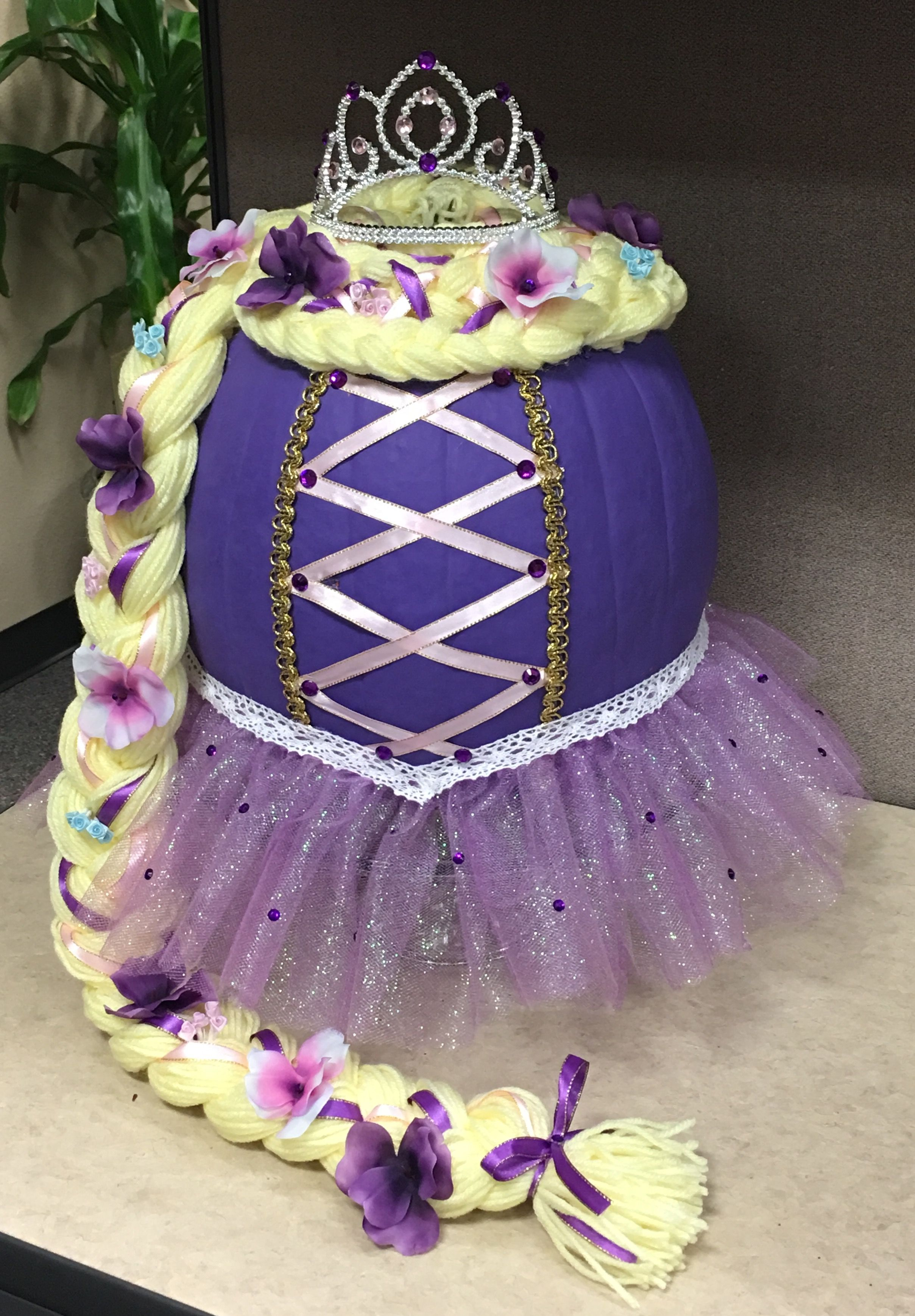 Rapunzel Decorated Pumpkin Got 1St Place At Work