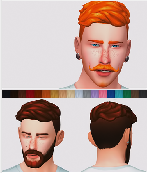 Wavy Hair by buckgrunt via SFS | Male | BGC | Sims 4 | TS4